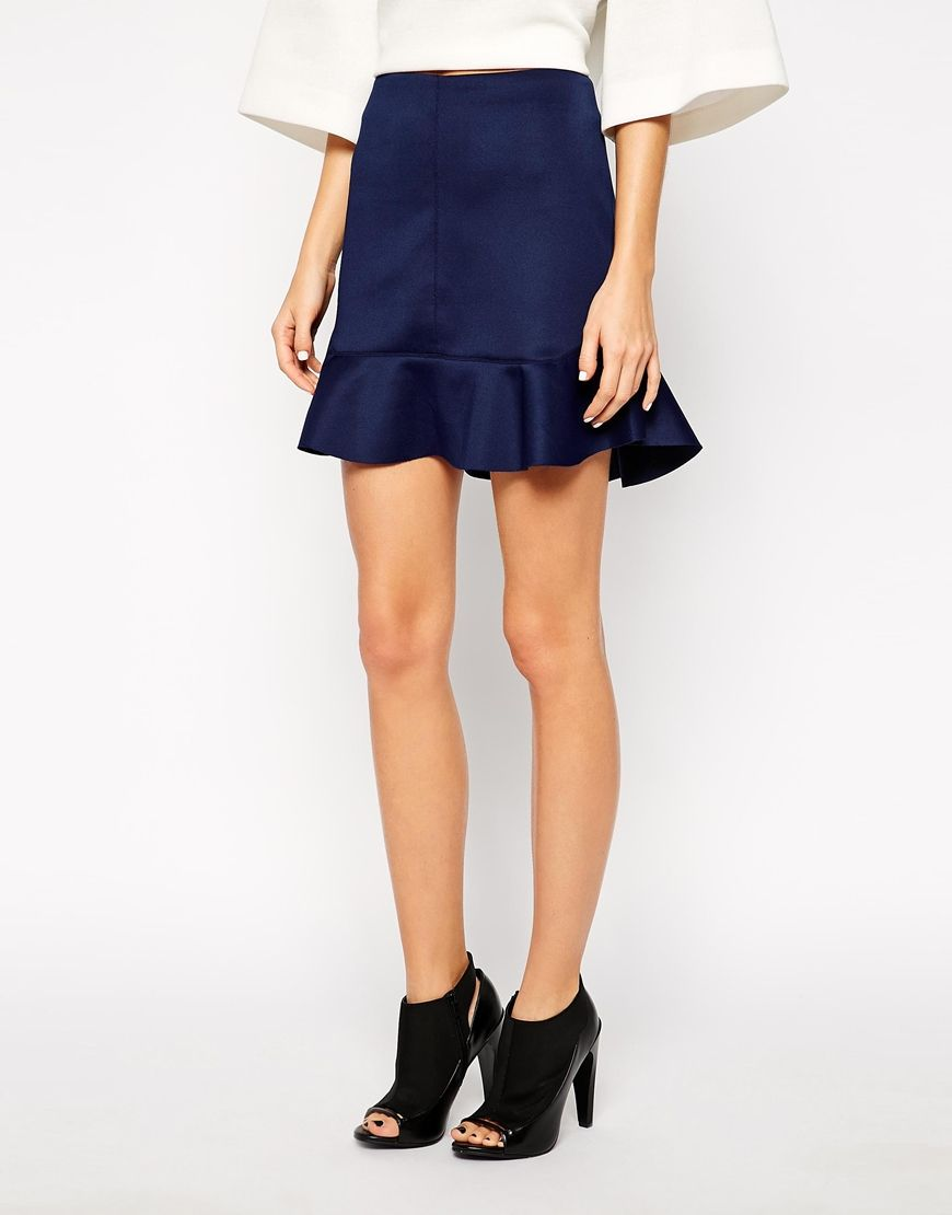 Mini falda de neopreno
