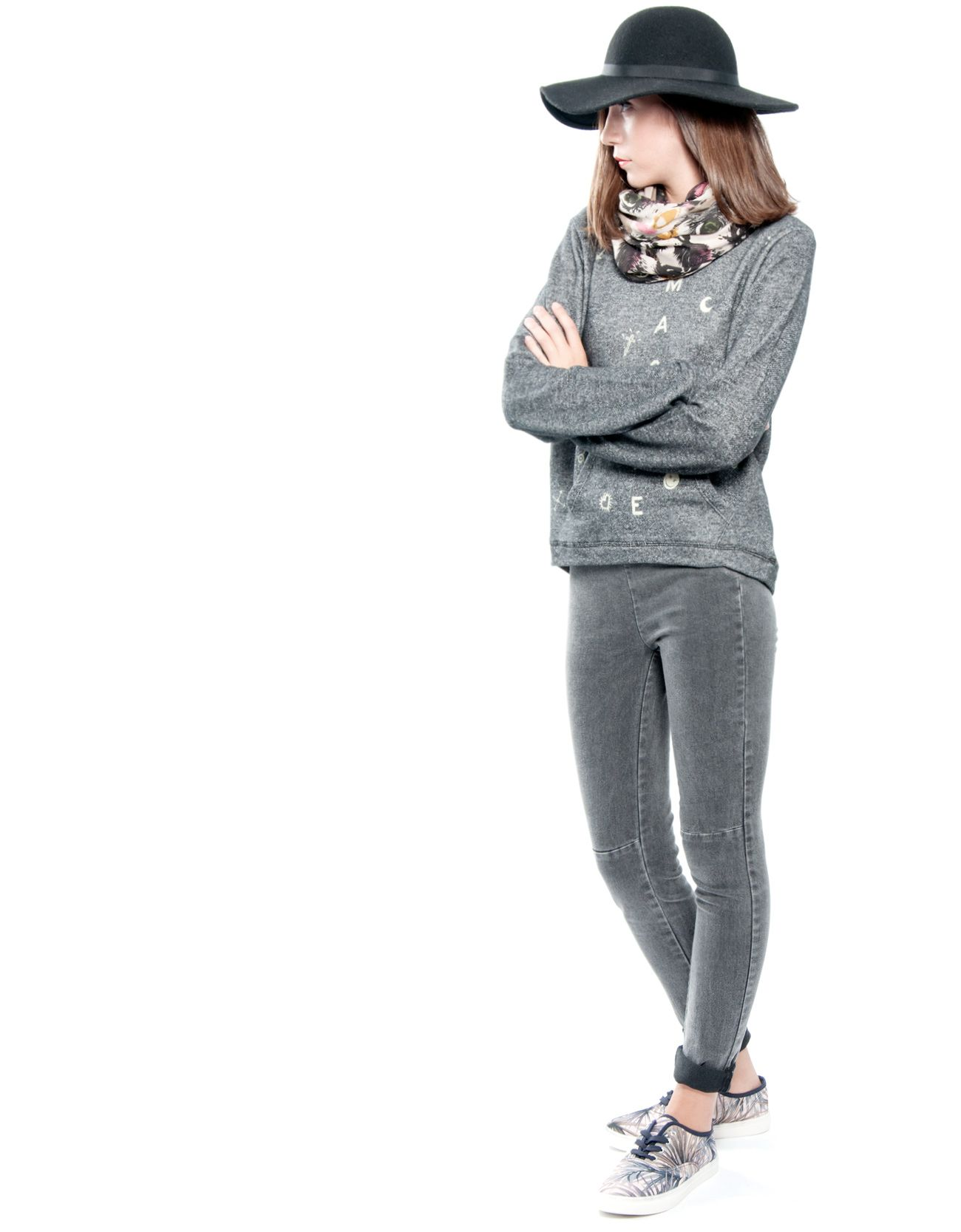 Jeans de tiro alto