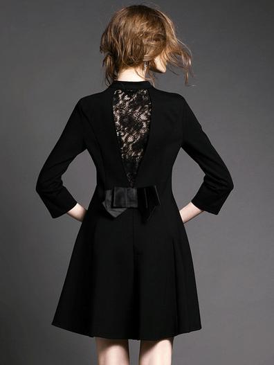 Choies España; Vestido con encaje en la espalda