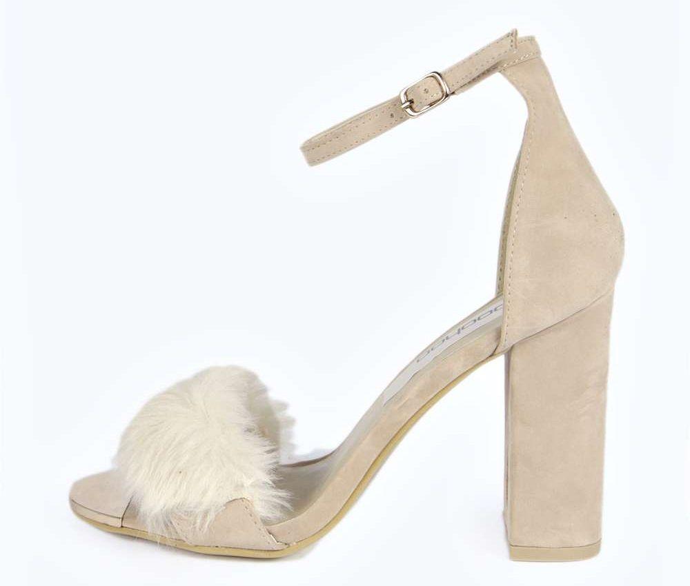 Zapatos de tacón con pelo