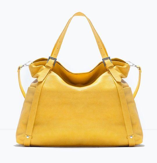 Bolsos de Zara amarillos