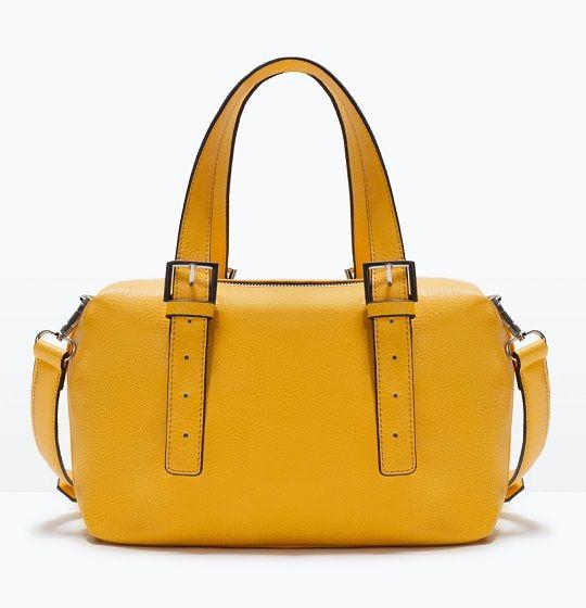 Bolsos amarillo limón de Zara