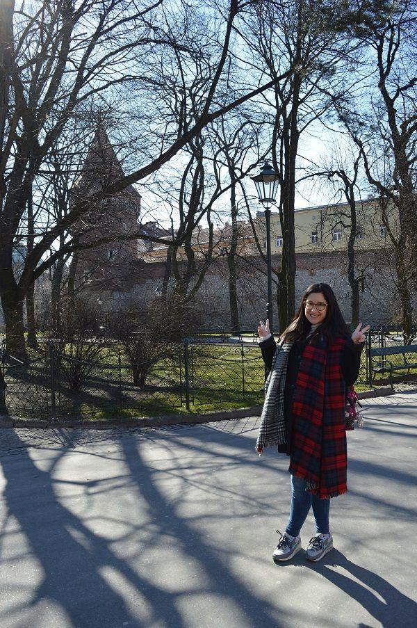 Look de invierno en Cracovia
