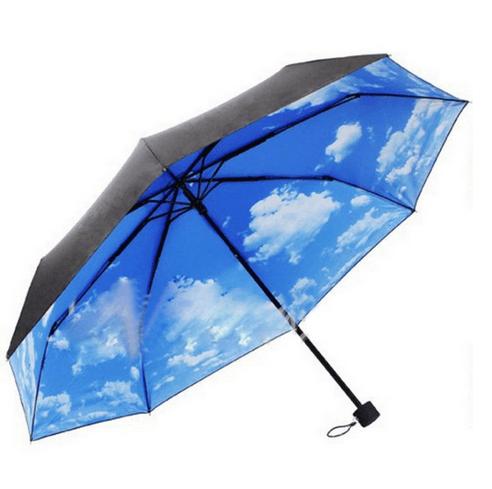 Paraguas con imagen de cielo azul