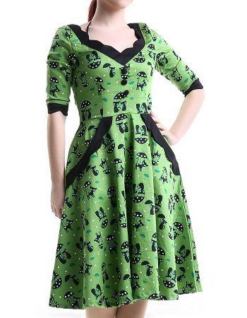 Vestido pin up verde