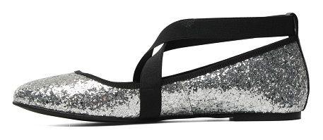 Zapatos cómodos para salir de fiesta con brillos