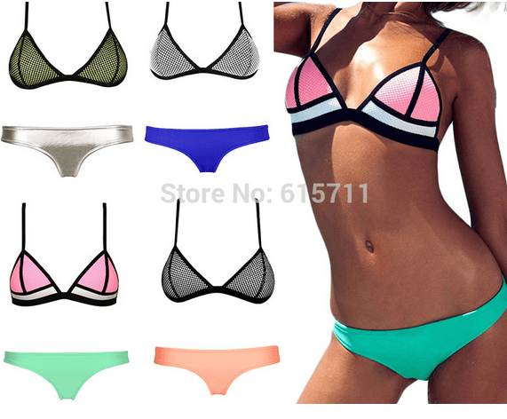Bikini triangle colores