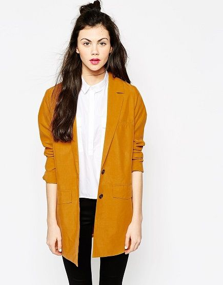 Blazer oversized color mostaza