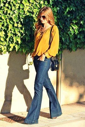Cómo llevar pantalones de campana con estilo lady