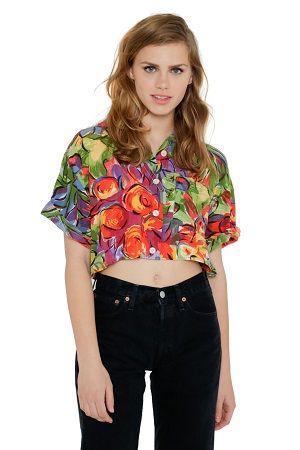 Camisa crop top vintage