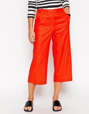 Culottes rojos formales