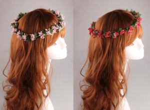 Coronas de flores en Aliexpress