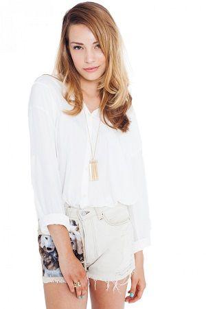 Shorts levis blancos con dibujo
