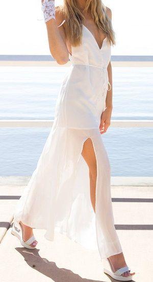 Vestido blanco ajustado
