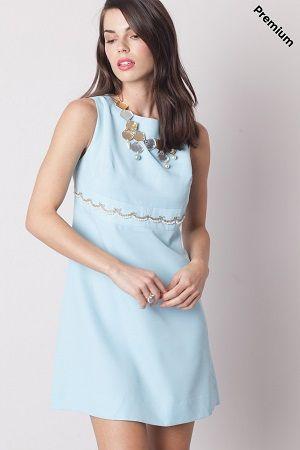 Vestido celeste vintage