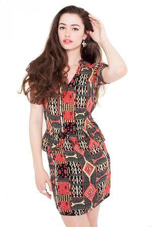 Vestido tribal vintage