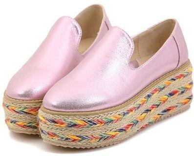 Zapatos de esparto con plataforma