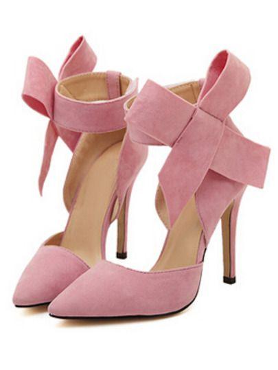 Zapatos de tacón con lazo