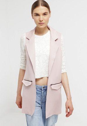 Chaleco sastre rosa palo