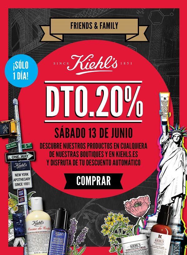 Kiehl's Online; Descuentos del 20%