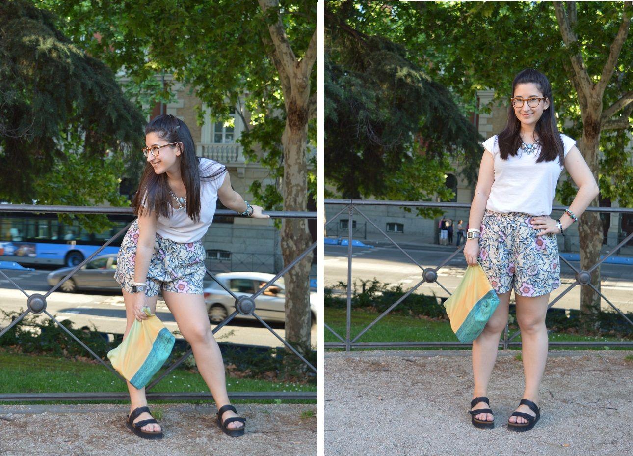 Look de verano con shorts de talle alto