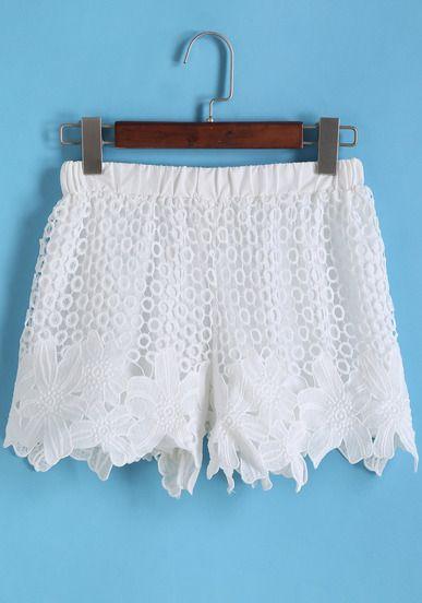 Shorts étnicos con encaje