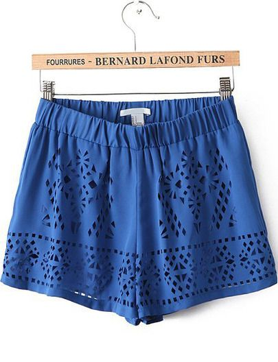 Shorts troquelados