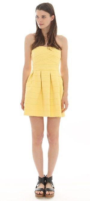 Vestido amarillo Pimkie