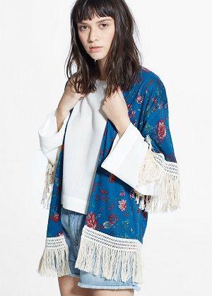 Kimonos de flores en rebajas