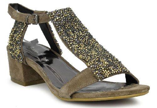 Sandalia con pedrería