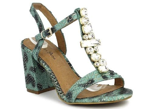 Sandalias con joyas estampadas; Rebajas Alma en Pena