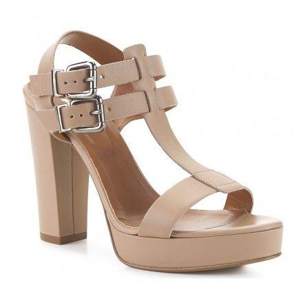 Sandalias de piel de marca