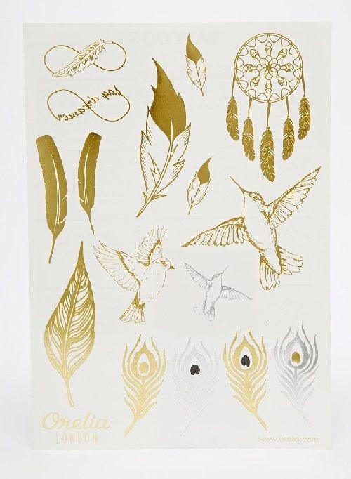 Tatuajes de pájaros y plumas