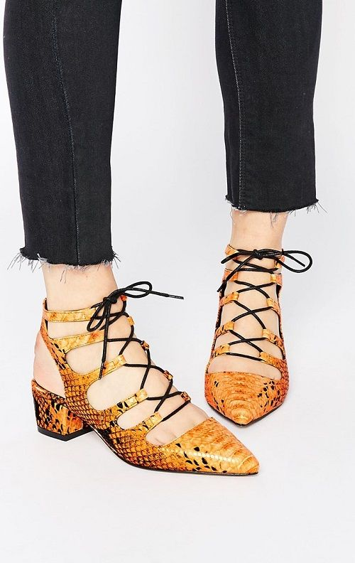 Zapatos de tacón bajos