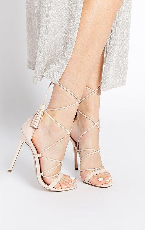 Zapatos de tacón claros