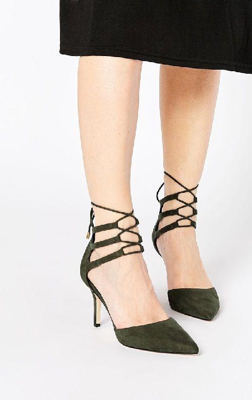 Zapatos de tacón de ante