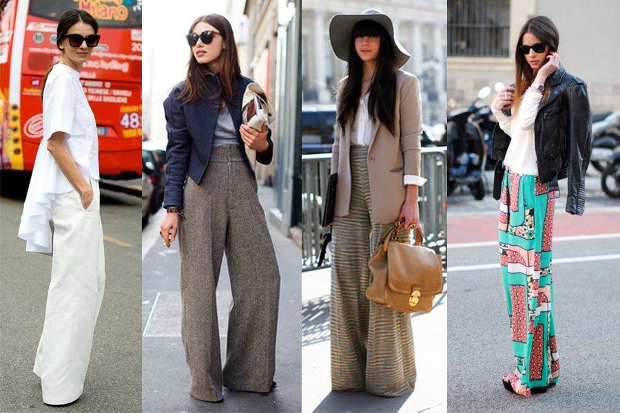 Pantalones palazzo con chaqueta