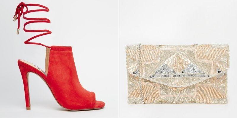Sandalias de ante rojas