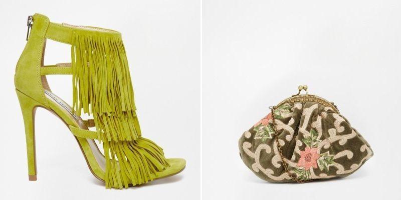 Zapatos de fiesta con flecos