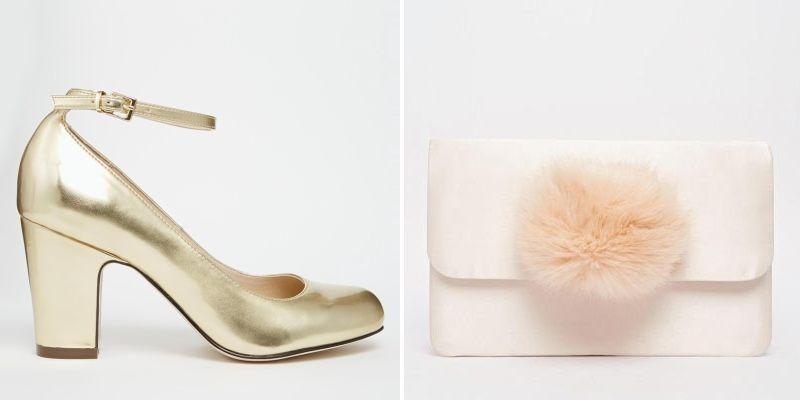 Zapatos de tacón dorados - Tu Moda Online b76bd7e59774