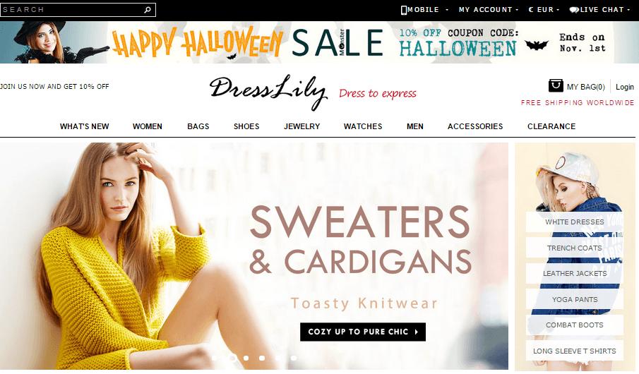 Tiendas chinas de ropa online - Dresslily