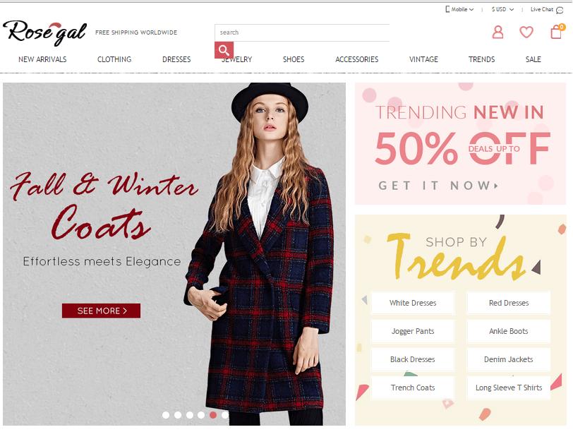 Tiendas chinas de ropa barata - Rosegal