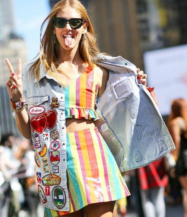 Chiara Ferragni parches para la ropa
