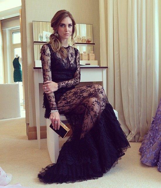 Chiara Ferragni vestido de fiesta