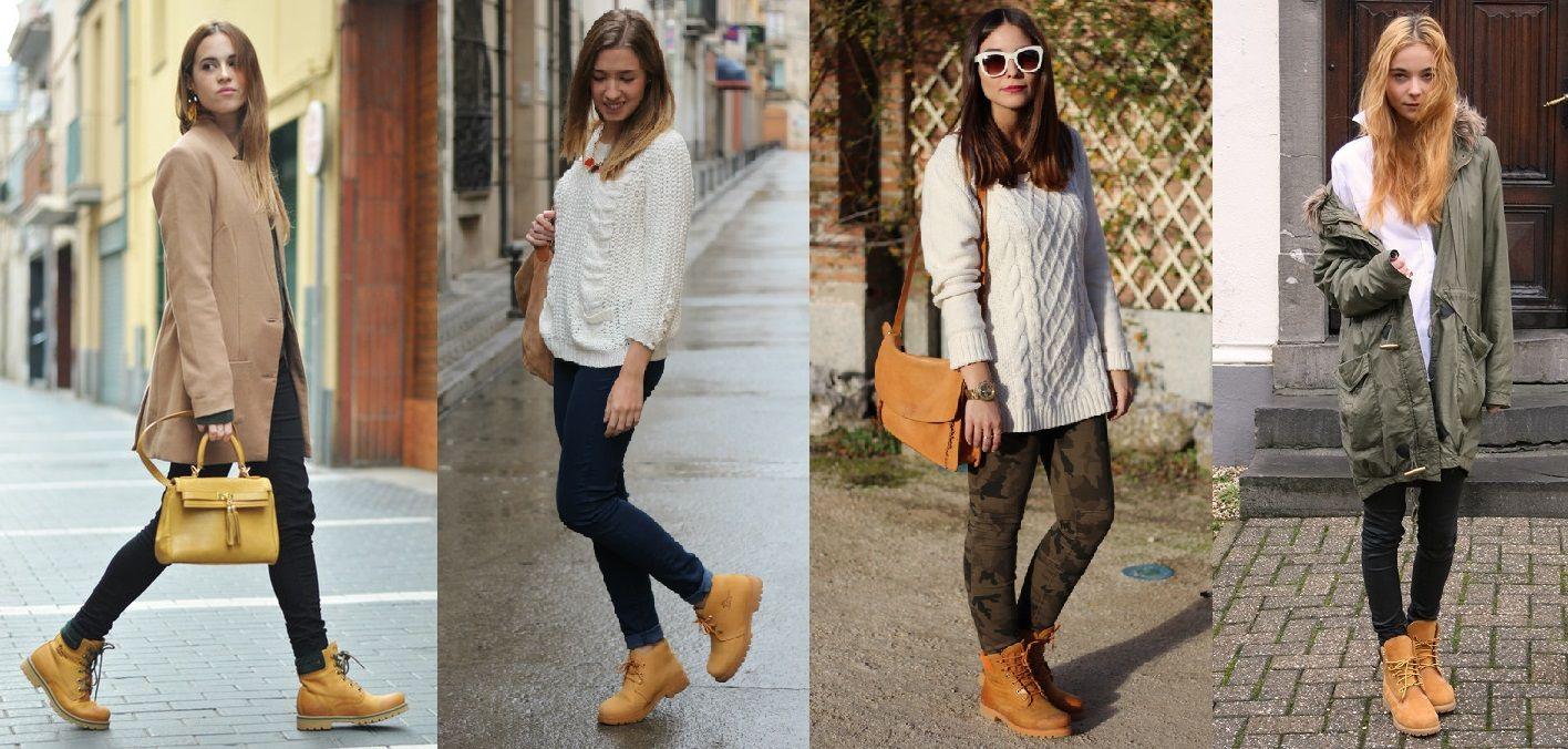 moda con botas timberland mujer