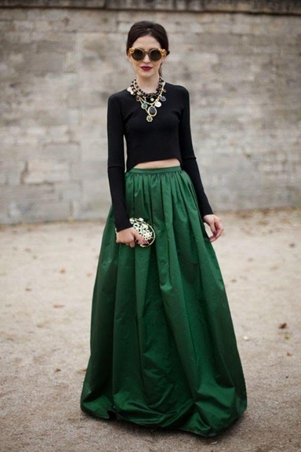 Ir a una boda con falda larga
