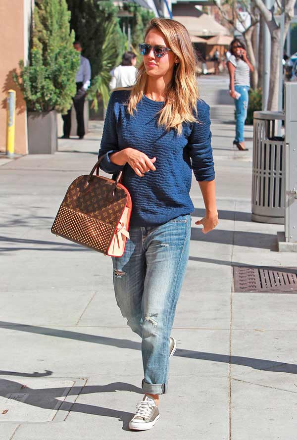 Copia El Look De Jessica Alba Casual Chic