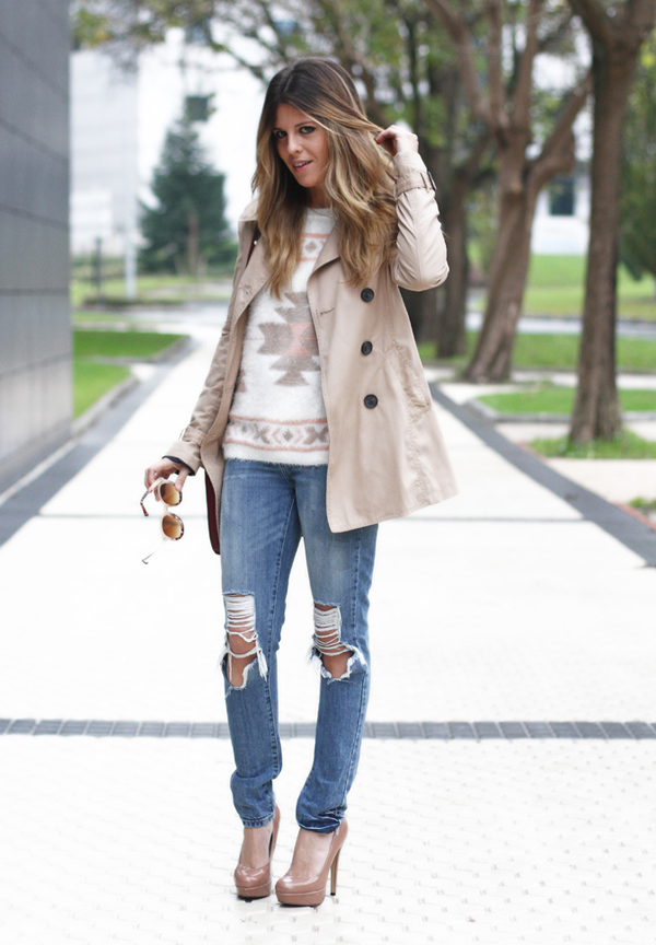 Looks con vaqueros rotos