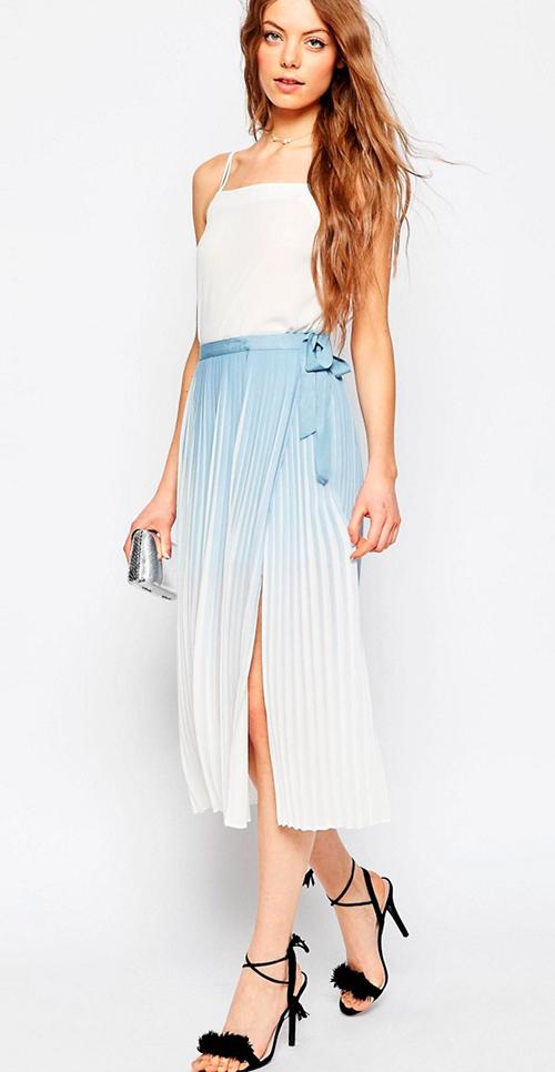Faldas plisadas cómo llevarlas