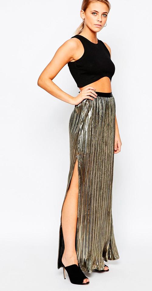 Faldas plisadas largas